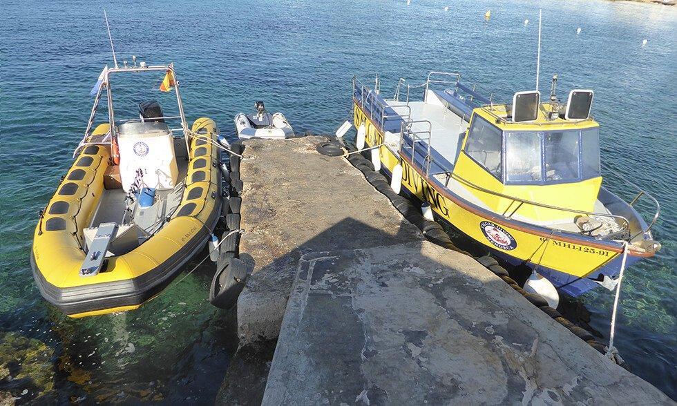 Our Boats | S'Algar Diving Menorca