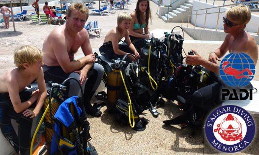 Wide range of PADI Diving Courses in Menorca by S'Algar Diving.
